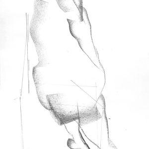 Untitled.Figure-drawing.42x30-cm.Art-sticks-and-pencil-on-paper.Laleh-Memar-Ardestani.2020