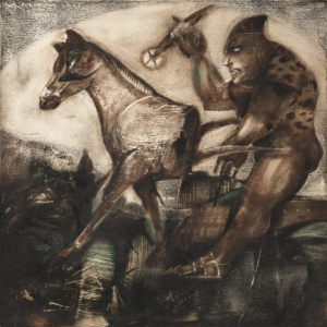 Alacakaranlık-Kuşağı-1998-oil-on-canvas-Painting-50-x-50-cm