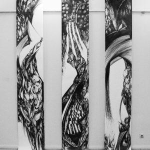 Pencil-on-Paper50x400-cm2004-1