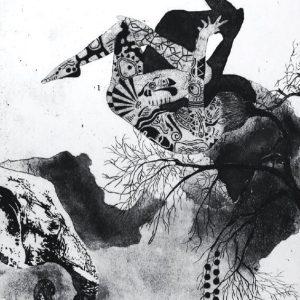 Space, Elif celebi, intaglio, printing, etching, engraving, 25 x 35
