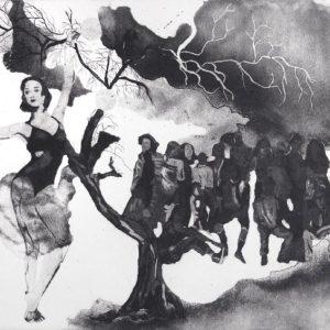 Crowded, Elif Celebi, intaglio, printing, 35 x 25