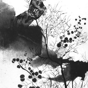 cloud, Elif celebi, engraving, etching, equating, 25 x 35