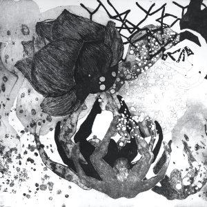 Elif Celebi, lotus, 25x35, intaglio, etching, engraving