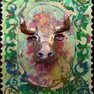 saeed nodehi, mixed media, figurative, surreal, 2015