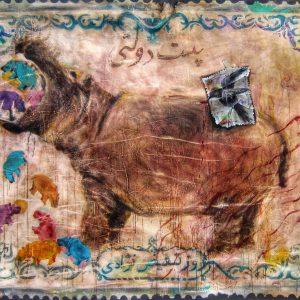 saeed nodehi, mixed media, figurative, surreal, 2013, medium