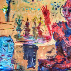 saeed nodehi, mixed media, figurative, surreal, 2009, medium