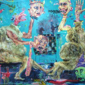 saeed nodehi, mixed media, figurative, surreal, 2010, medium