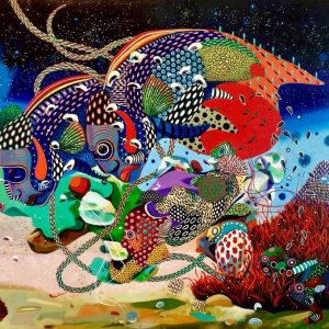 Levent Oyluçtarhan, large, expressionism, 80x120