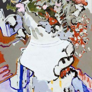 Christina Papaioannou, expressionism, large, 2018, acrylic,