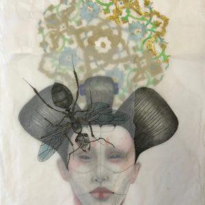Roxana Manouchehri, ant mixed media, 2019