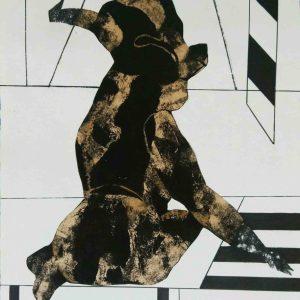 Sanez Haeri, Moving Forward, mixed media, conceptual, 2020