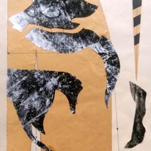 Sanez Haeri, conceptual, mixed media, 2018, collage
