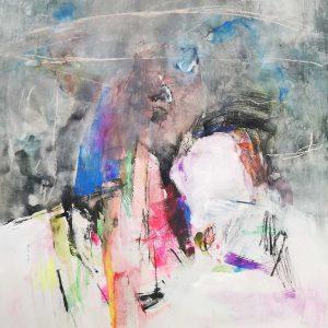 Angeliki Papageorgiou, mixed media, acrylic, pencil, crayon, 2020, conceptual, collage