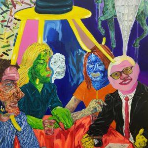 2020, ink, Parsa Mostaghim, figurative, acrylic, pencil