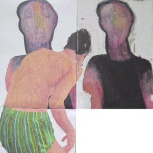 acrylic, 2020, figurative, conceptual, Sadra Mirsharifi, pencil, pastel