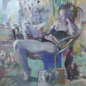 oil on canvas, untitled, 2019, selahattin aydin