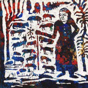 Reza Hedayat, acrylic, figurative, 2020, expressionism, small, untitled