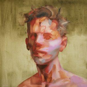 Salman Khoshroo, oil on canvas, conceptualism