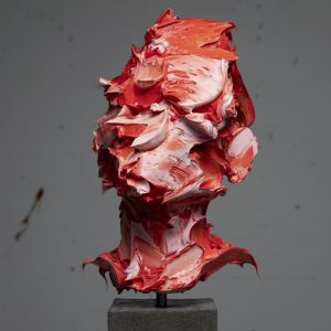 Salman Khoshroo, concrete, steel, oil, conceptualism, 2020