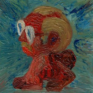 Milad Mousavi, expressionism, oil, 2020