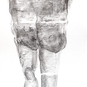 101.Untitled, drawing ,70x50 cm , Art sticks on paper , 2021, Laleh MemarArdestani-02-01-min
