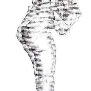 101.Untitled, drawing ,70x50 cm , Art sticks on paper , 2021, Laleh MemarArdestani