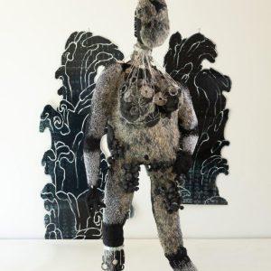 Angra-Mainyu-.-Mixed-media-Fabric-Found-items.-Handmade-by-Artist.Size-230-.90-.80-cm-2020